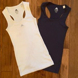 Adidas tank tops, athletic wear, set of two
